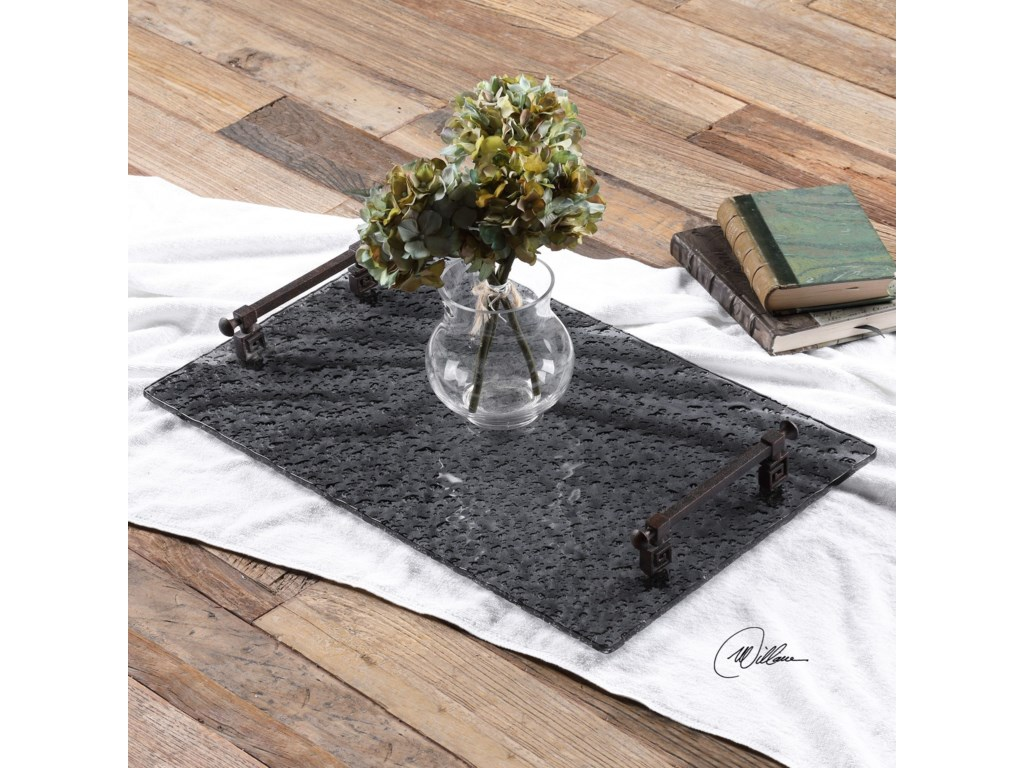 Uttermost AccessoriesDiya Smoke Glass Tray