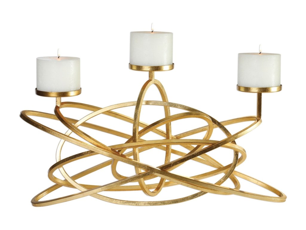 Uttermost Accessories - Candle HoldersMishka Gold Candelabra
