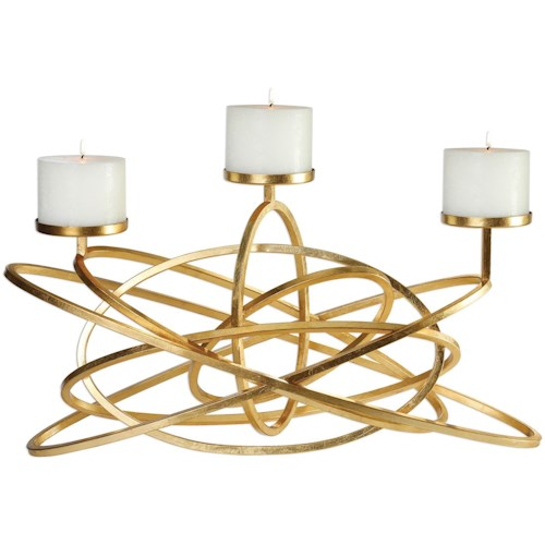 Uttermost Accessories Mishka Gold Candelabra