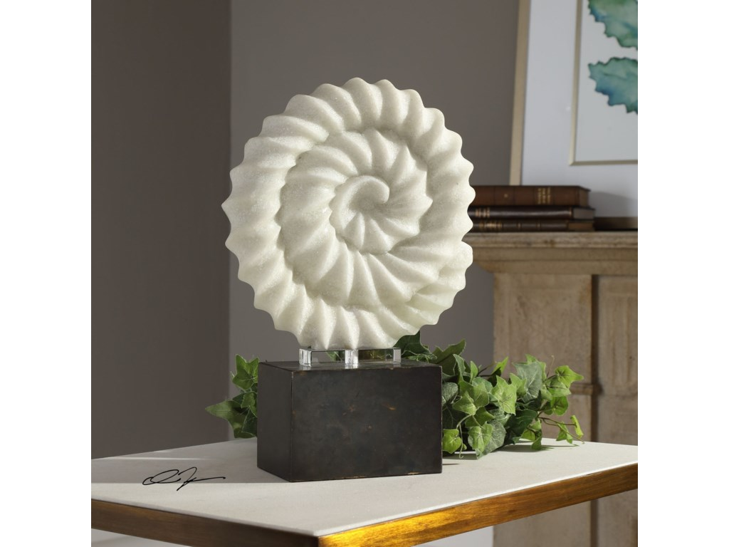 Uttermost Accessories - Statues and FigurinesTwisted Spiral Stone Sculpture