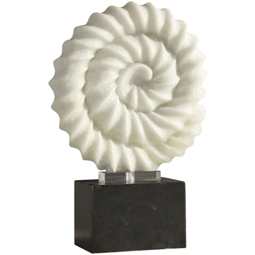 Uttermost Accessories Twisted Spiral Stone Sculpture