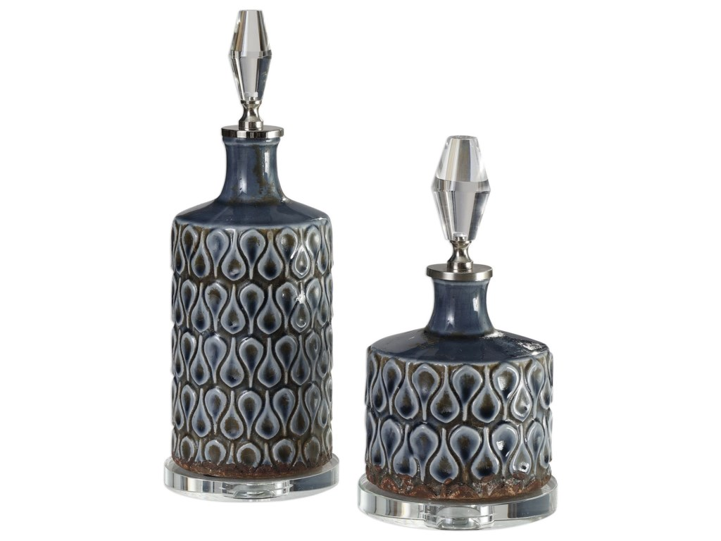 Uttermost AccessoriesVaruna Cobalt Blue Bottles S/2