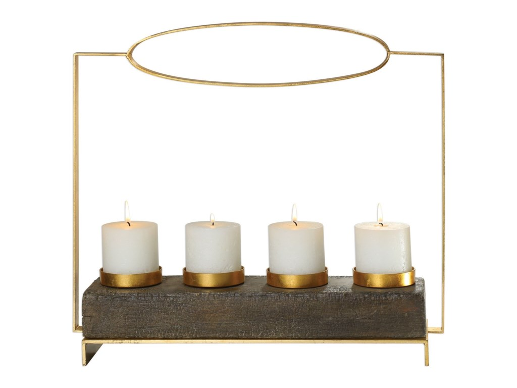 Uttermost Accessories - Candle HoldersAmrit Gold Candleholder