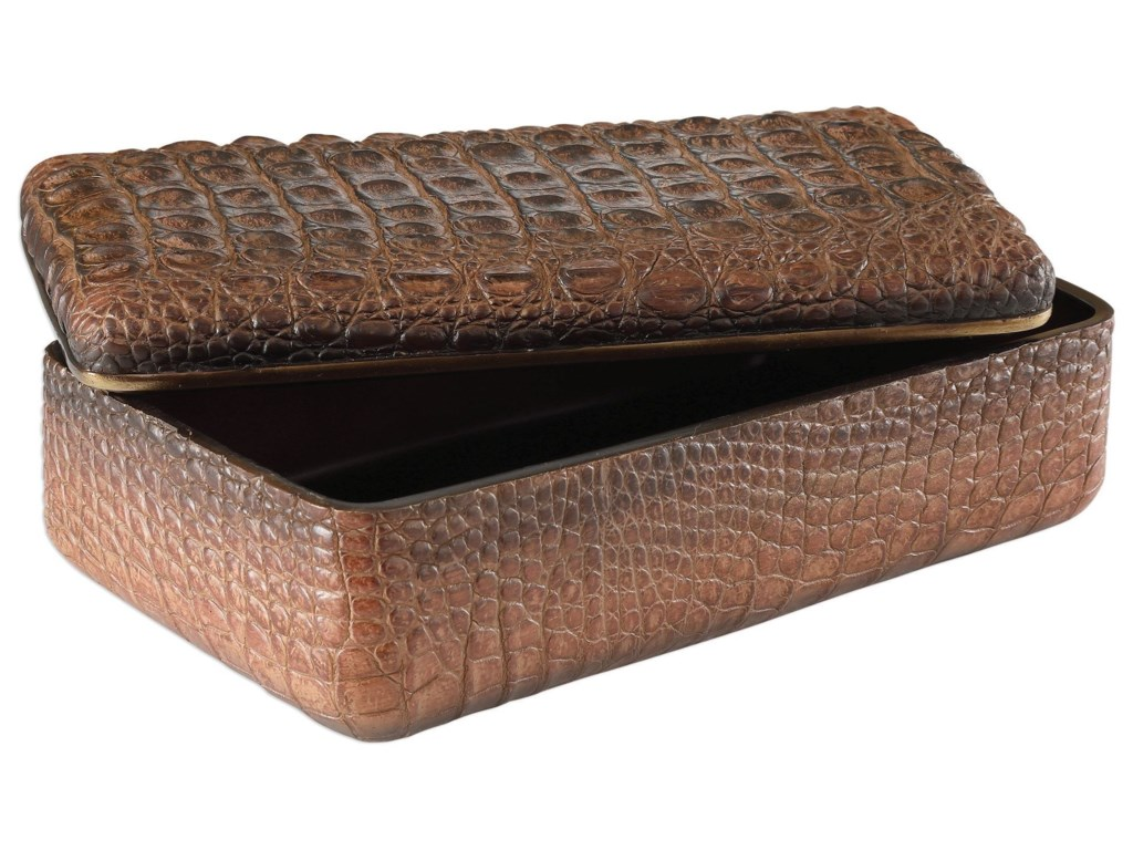 Uttermost AccessoriesNyra Crocodile Box