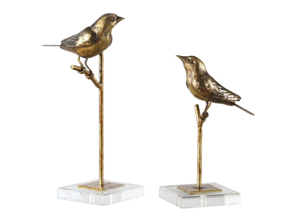 Uttermost Accessories - Statues and FigurinesPasserines Bird Sculptures S/2