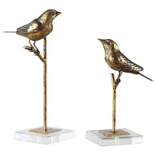 Uttermost Accessories Passerines Bird Sculptures S/2