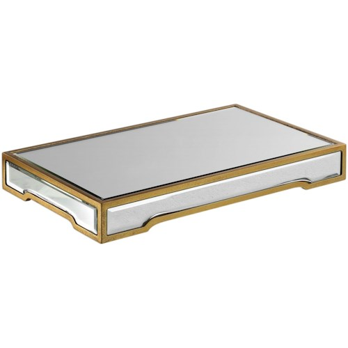 Uttermost Accessories Carly Mirrored Tray