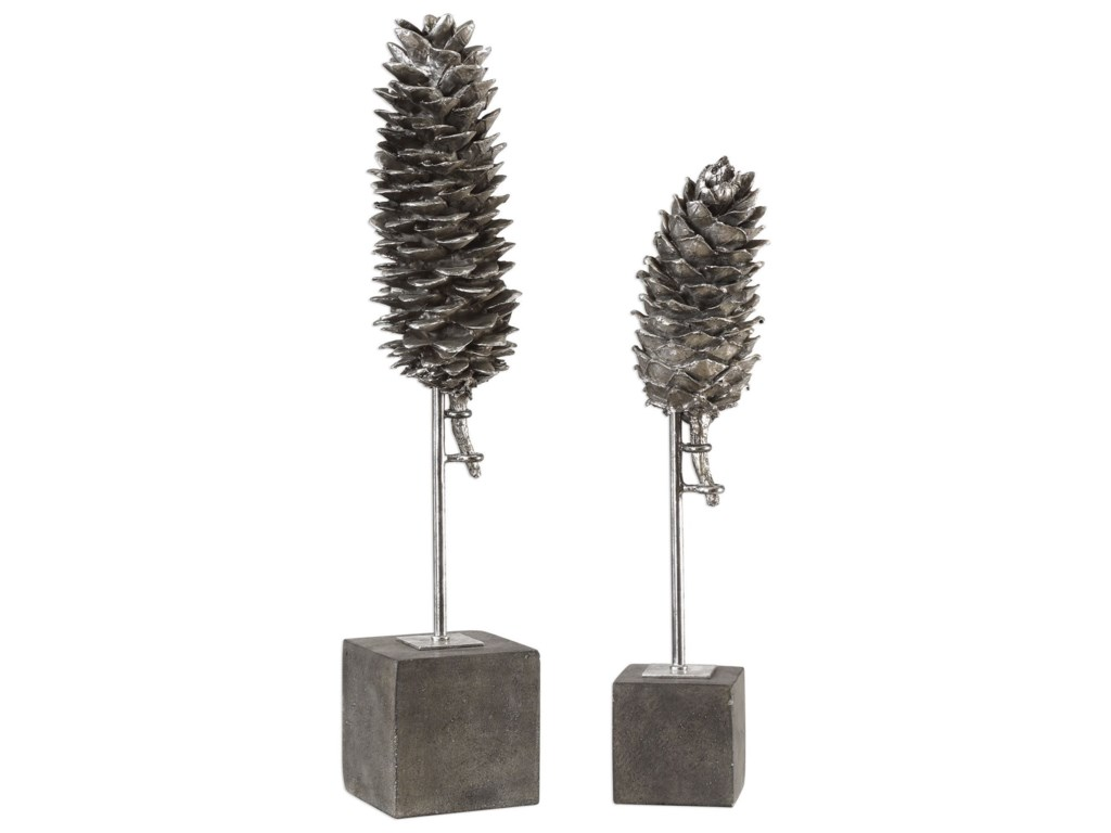 Uttermost Accessories - Statues and Figurines Longleaf Pine Cone Sculptures