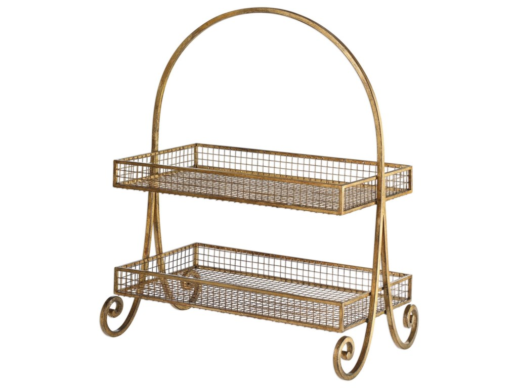 Uttermost AccessoriesCallen Wire Shelved Fruit Basket