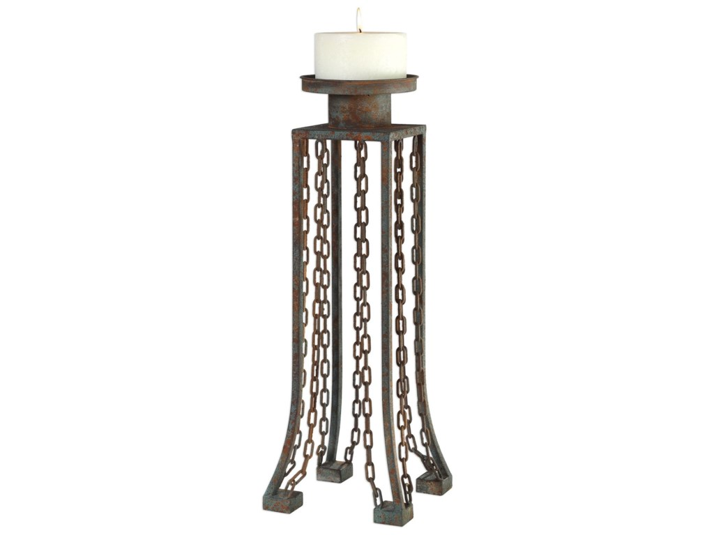 Uttermost Accessories - Candle HoldersDanu Aged Iron Candleholder