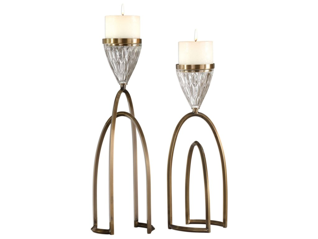 Uttermost AccessoriesCarma Bronze And Crystal Candleholders