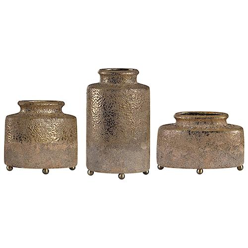 Uttermost Accessories Kallie Metallic Golden Vessels S/3