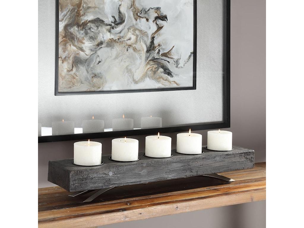 Uttermost AccessoriesCallum Wooden Candleholder