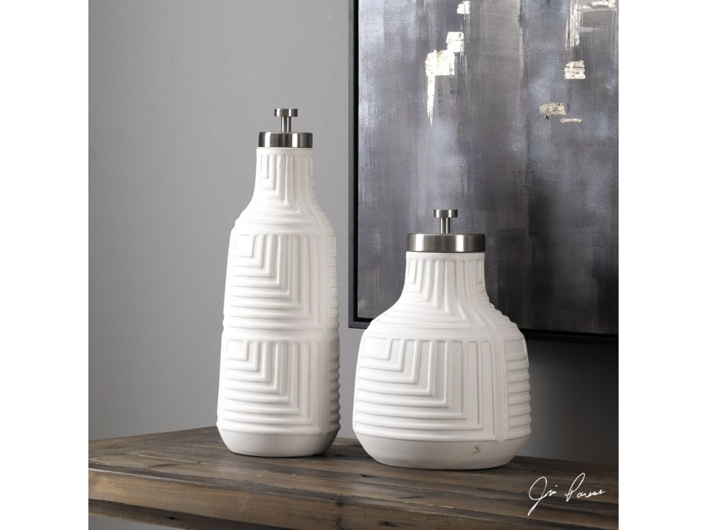 Uttermost AccessoriesChandran Matte White Containers S/