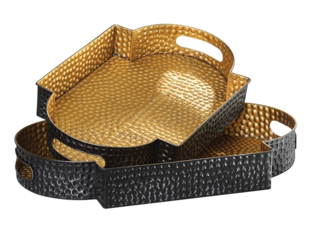 Uttermost AccessoriesGatha Bronze & Gold Trays S/2