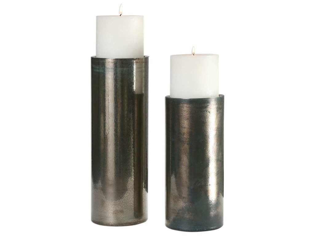 Uttermost Accessories - Candle HoldersAmala Iridescent Candleholders