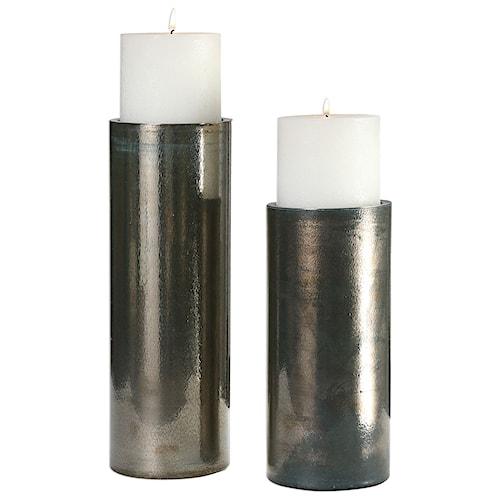 Uttermost Accessories Amala Iridescent Candleholders S/2