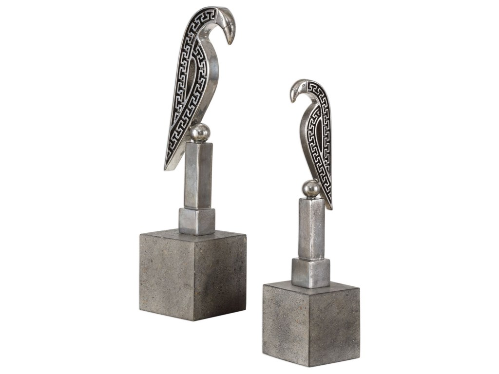 Uttermost Accessories - Statues and FigurinesNavya Silver Bird Sculptures S/2