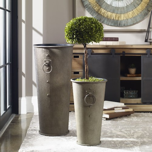 Uttermost Accessories Niya Oversized Planters S/2