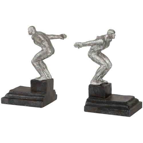 Uttermost Accessories Endurance Silver Bookends, S/2