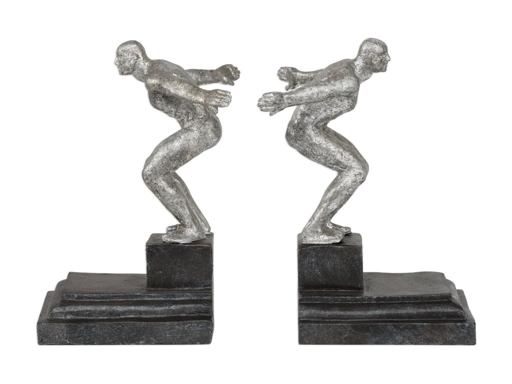 Uttermost AccessoriesEndurance Silver Bookends, S/2