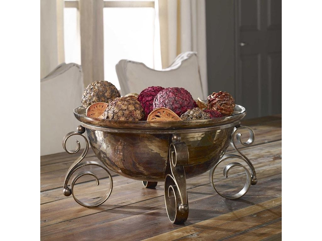 Uttermost AccessoriesAlya Bronze Glass Bowl