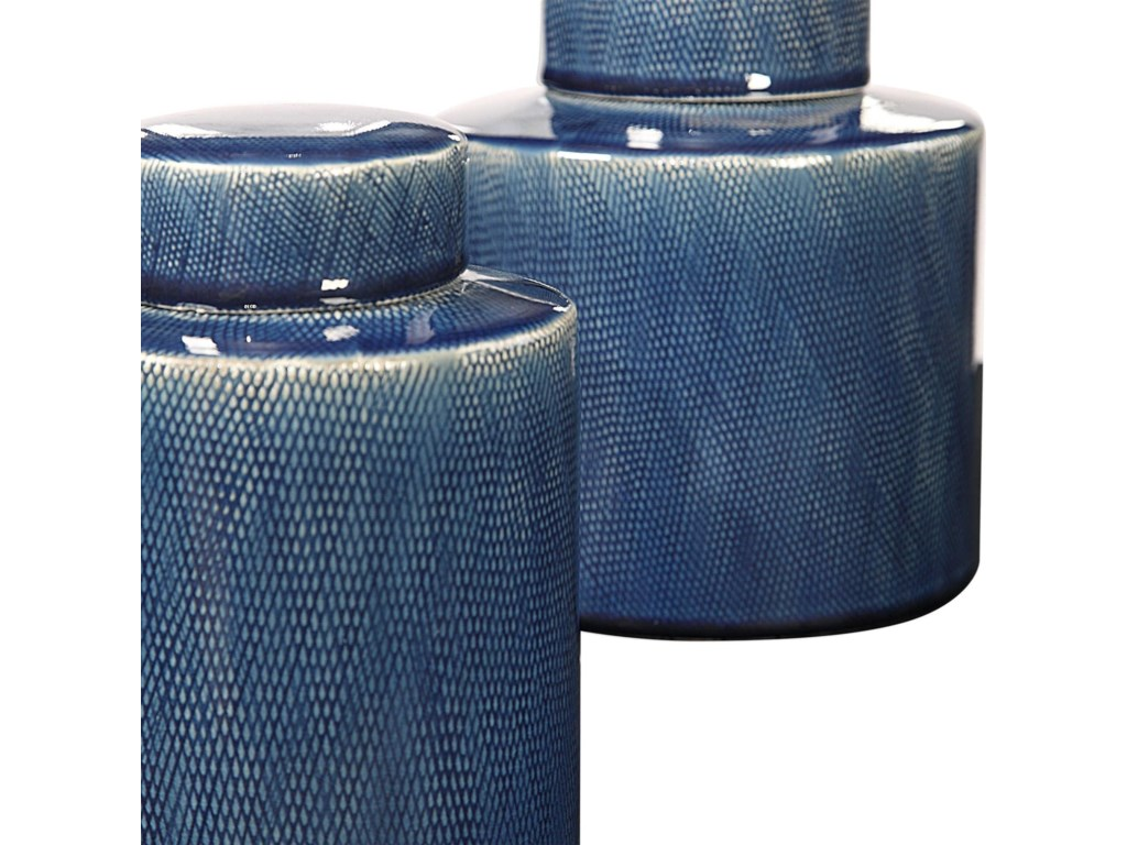 Uttermost AccessoriesSaniya Blue Containers, S/2