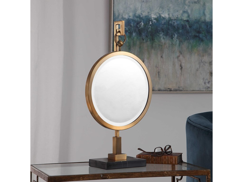 Uttermost AccessoriesNori Bronze Tabletop Mirror