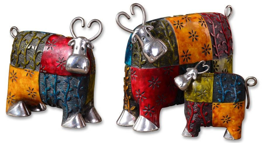 Uttermost AccessoriesColorful Cows Accessories Set of 3