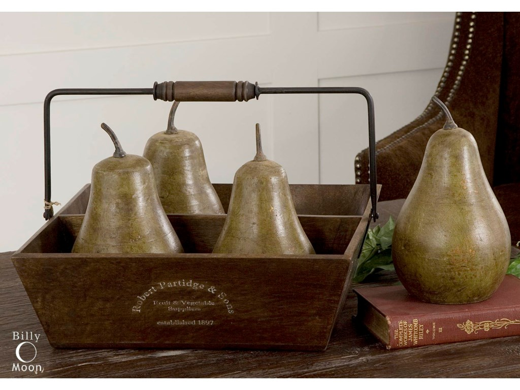Uttermost AccessoriesPears In Basket Set of 5
