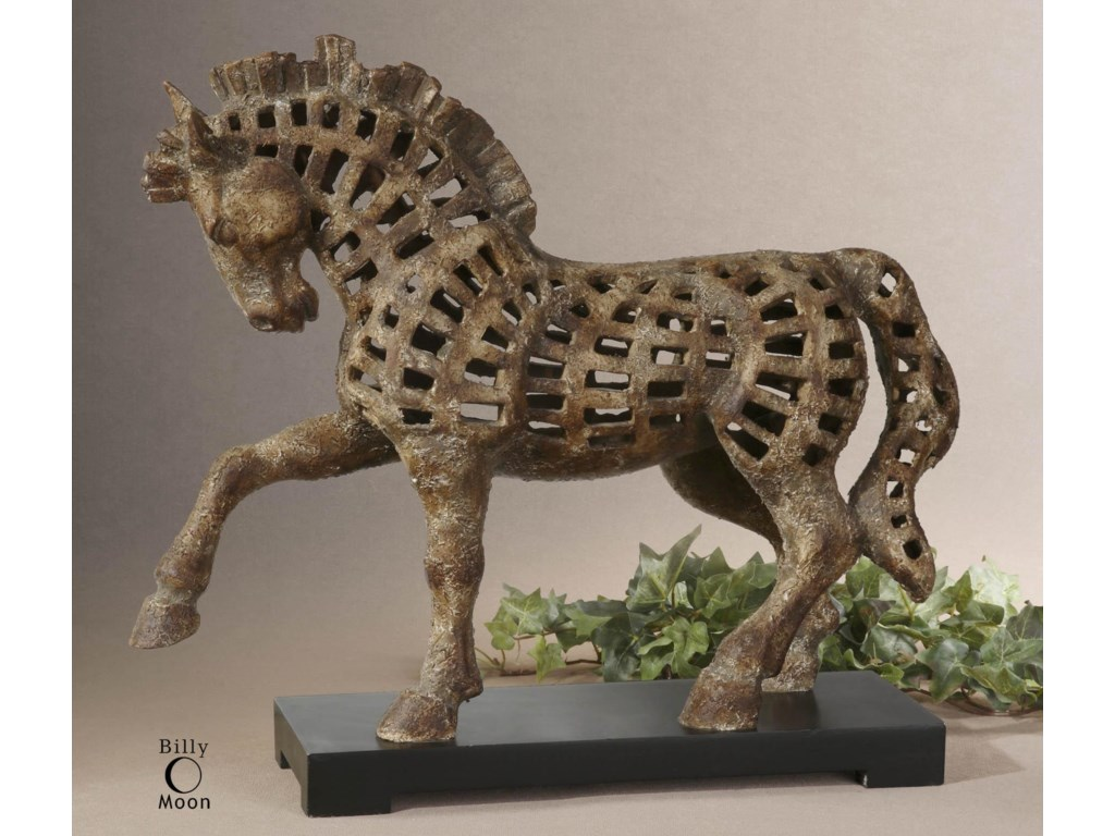 Uttermost Accessories - Statues and FigurinesPrancing Horse Sculpture
