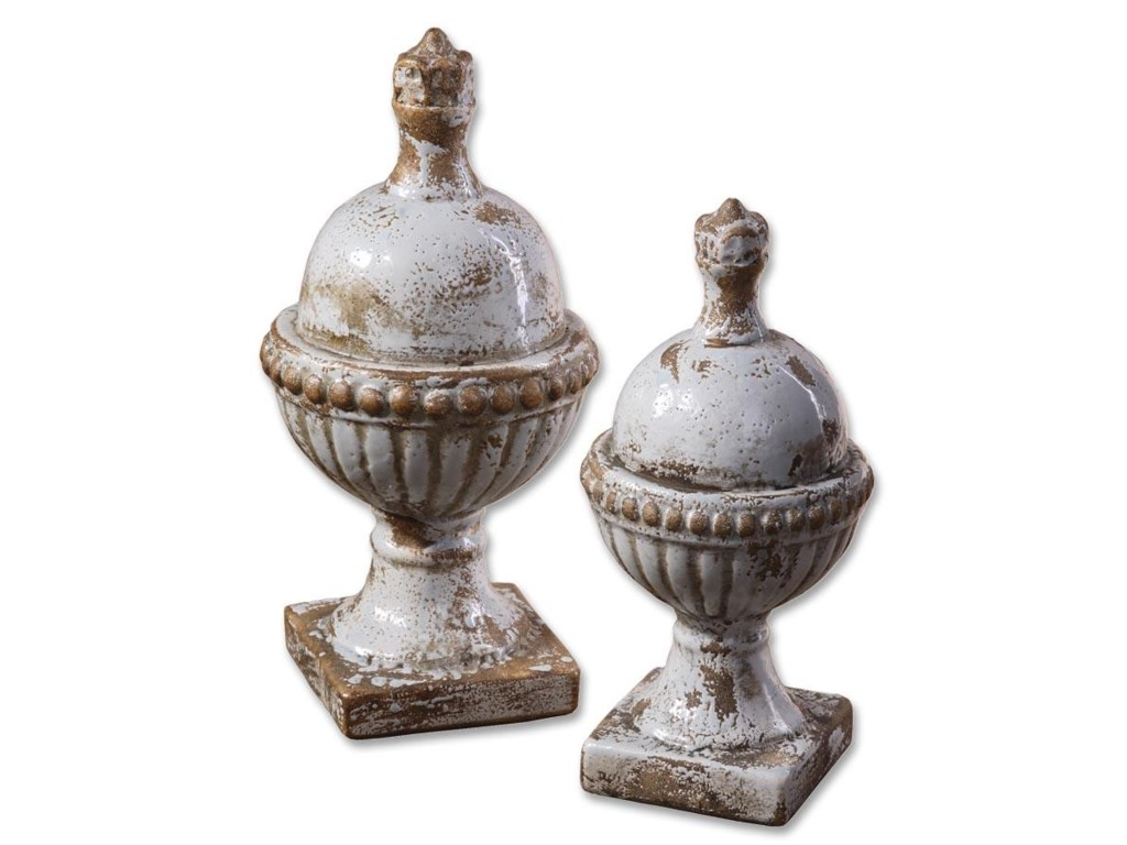 Uttermost Accessories - Statues and FigurinesSini Finials Set of 2