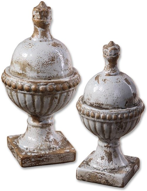 Uttermost Accessories Sini Finials Set of 2