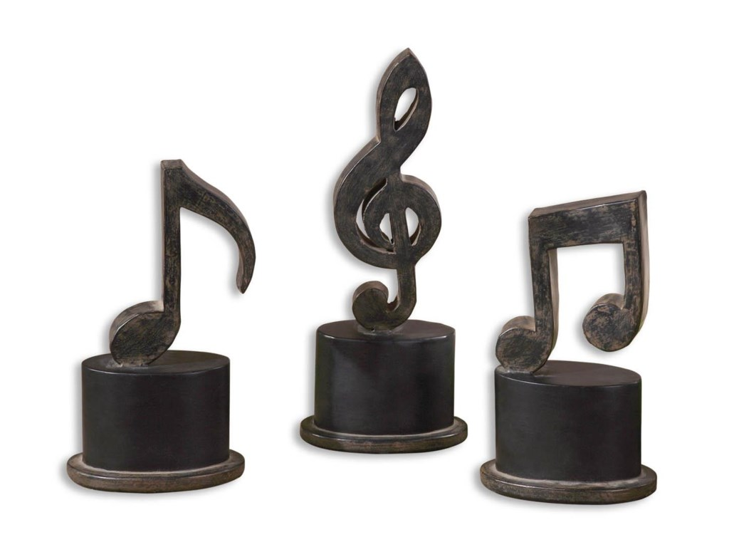Uttermost Accessories - Statues and FigurinesMusic Notes Set of 3