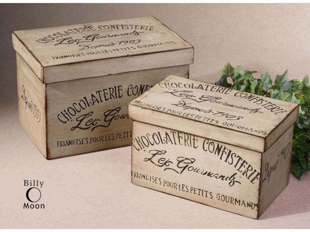 Uttermost Accessories - BoxesChocolaterie Boxes Set of 2