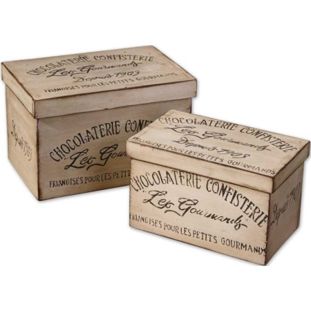 Chocolaterie Boxes Set of 2
