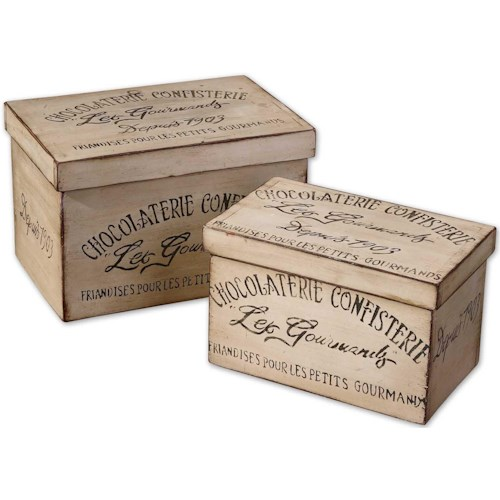 Uttermost Accessories Chocolaterie Boxes Set of 2