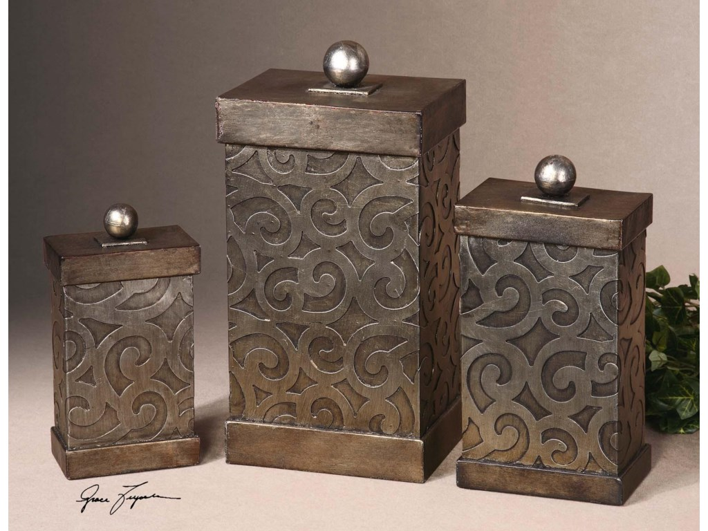 Uttermost AccessoriesNera Boxes Set of 3