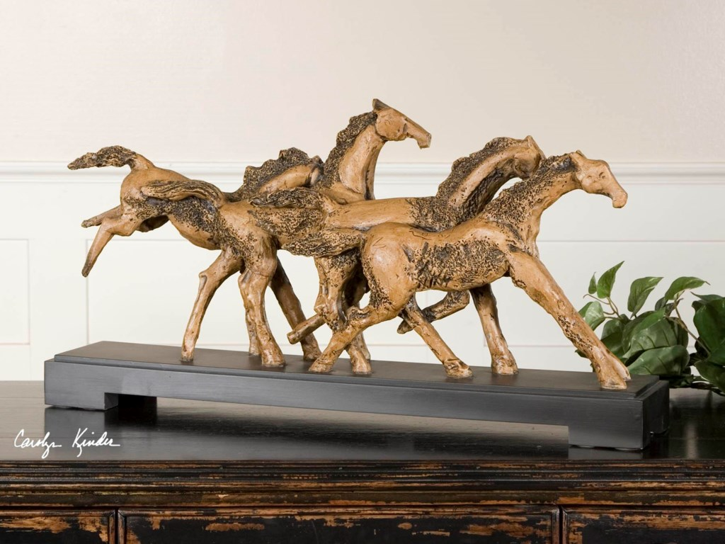 Uttermost Accessories - Statues and FigurinesWild Horses Sculpture