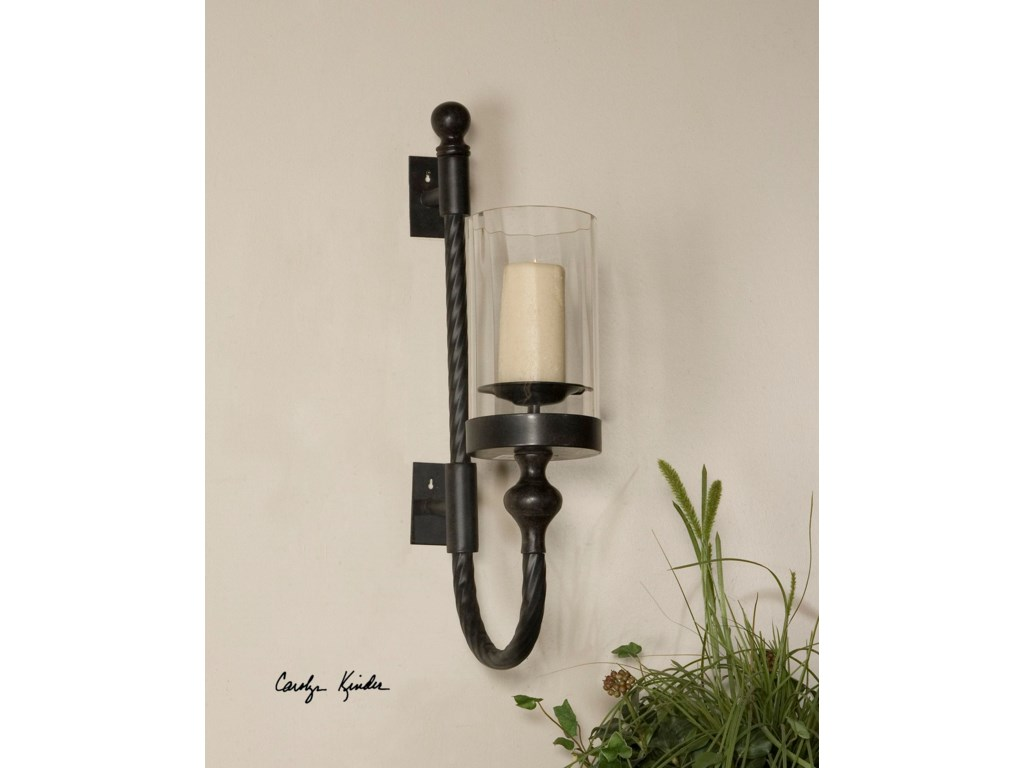 Uttermost AccessoriesGarvin Twist Sconce With Candle