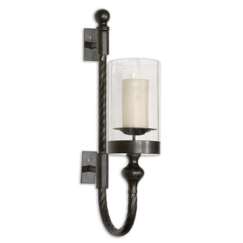 Uttermost Accessories Garvin Twist Sconce With Candle