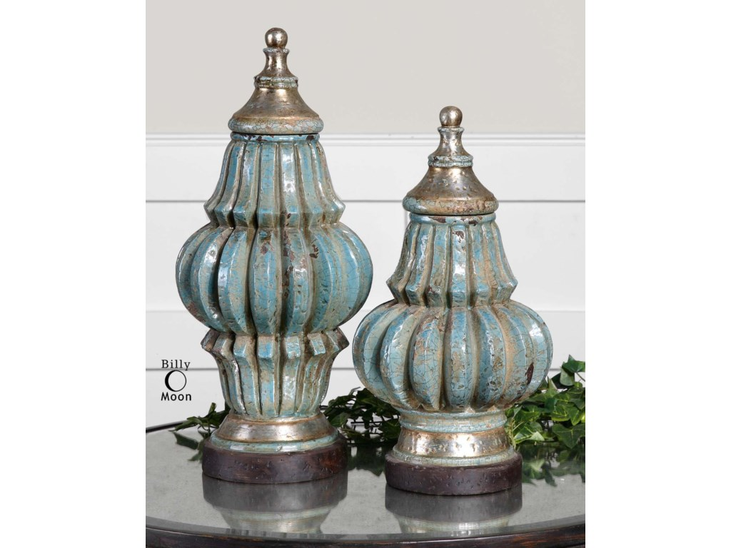 Uttermost Accessories - Vases and UrnsFatimaUrns Set of 2