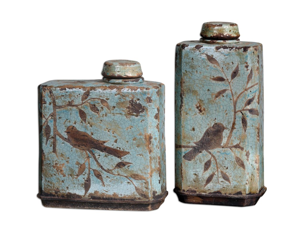 Uttermost Accessories - Vases and UrnsFreya Containers Set of 2