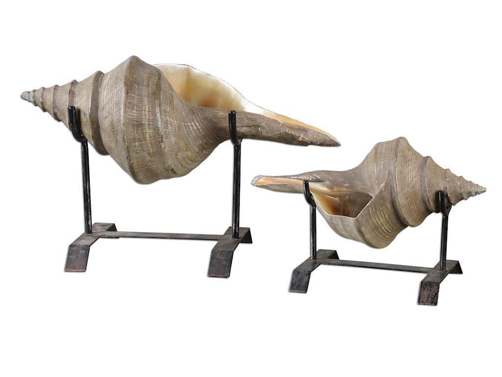 Uttermost AccessoriesConch Shell Sculpture Set of 2