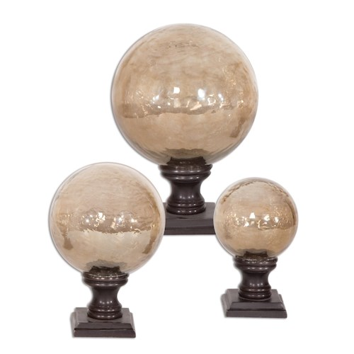 Uttermost Accessories Lamya Finials Set of 3