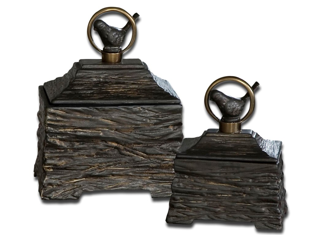 Uttermost AccessoriesBirdie Boxes Set of 2