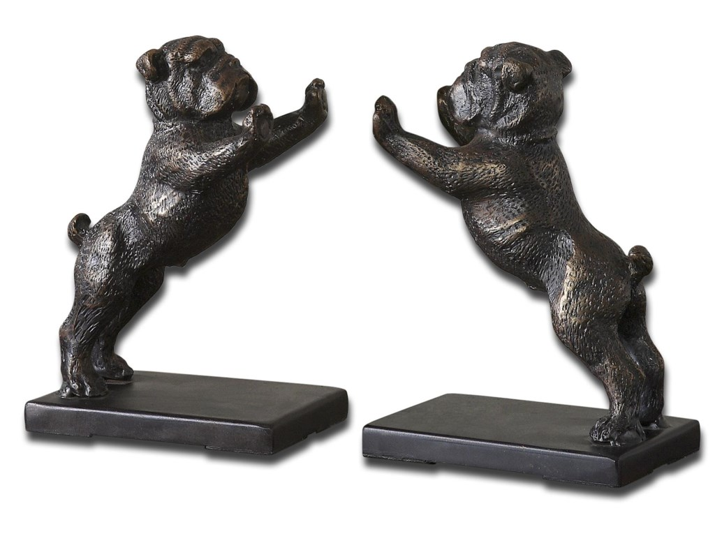 Uttermost Accessories - Statues and FigurinesBulldogs Set of 2