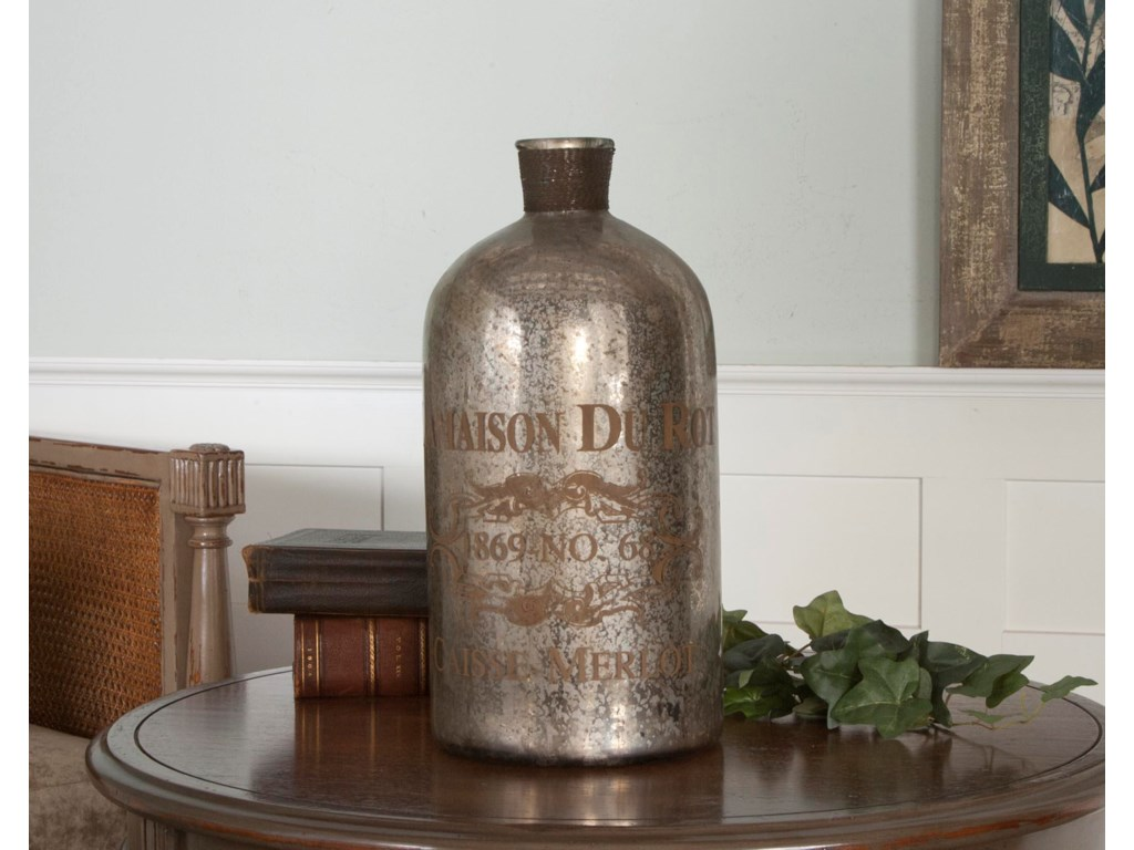 Uttermost AccessoriesLamaison Mercury Glass Bottle Large