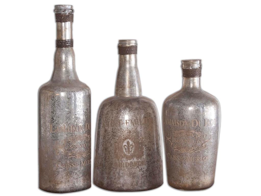 Uttermost AccessoriesLamaison Mercury Glass Bottles