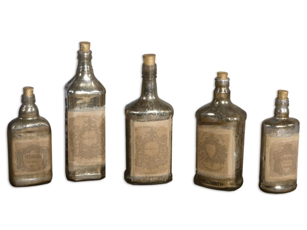 Uttermost Accessories - Vases and UrnsRecycled Bottles Set of 5